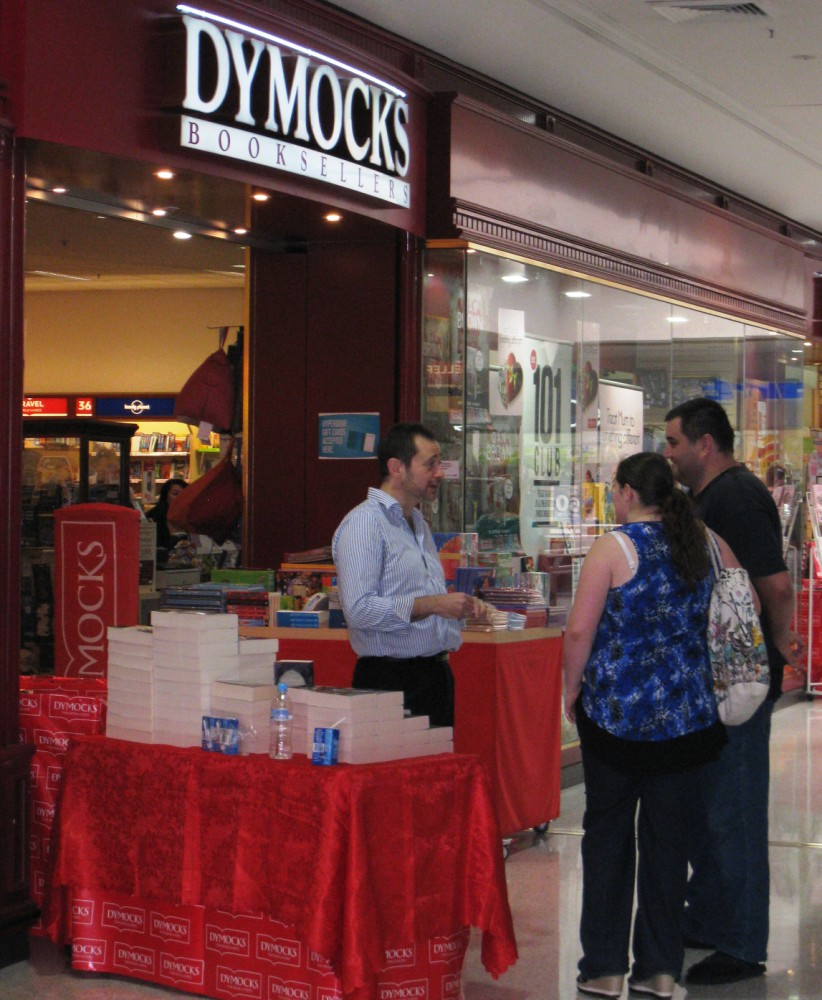 ... the Dymocks at Tuggeranong shopping centre. Duncan weaved his magic  selling his latest book 'Valley of Shields', number 2 in his Empire of  Bones series.